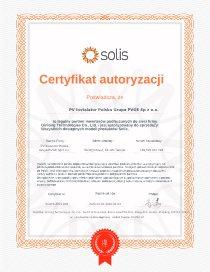 Certyfikat Soli dla PVGE