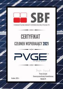 PVGE certyfikat SBF